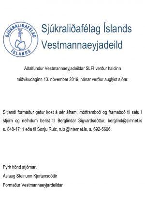 Aðalfundur Vestmannaeyjadeildar